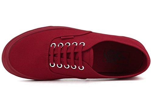 Vans Damen Ua Authentic Sneakers (Primary Mono) Red/Silver