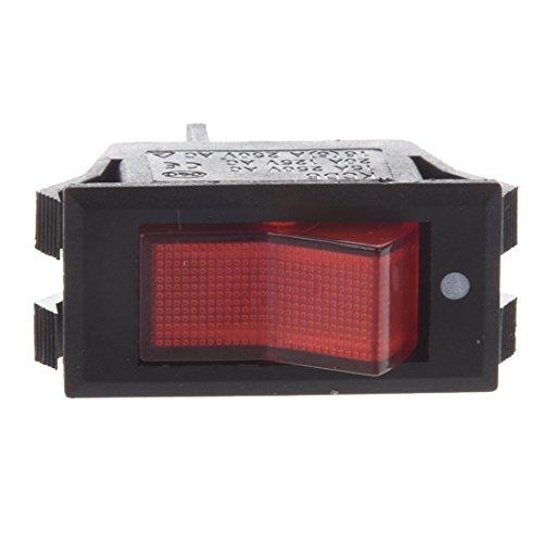 TOOGOO(R) 10er x rot Neon-Licht-Lampe Ein / Aus SPST Boot Wippschalter 15A / 250V 20A / 125V AC -