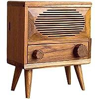 A.YJSUN Retro Caja De Pañuelos De Radio Creativa Muebles De Madera Maciza Bar Cafetería Decoración del Hogar