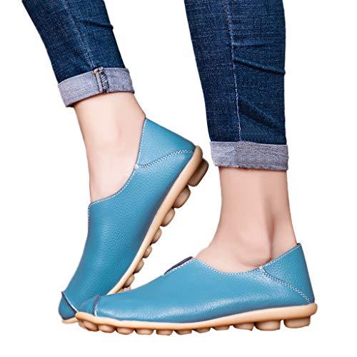 Schuhe Damen, Frauen Flach Segelschuhe Pumps Freizeitschuhe Damenschuhe von Bluelucon