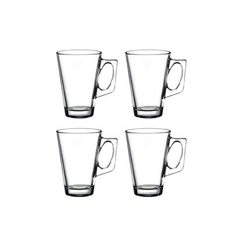 """Pasabahce 55201 - Teeglas mit Henkel """"Vela"""" für Tee, Latte Macchiato, Irish Coffee, Punsch, Glühwein, Heiße Schokolade, 4er Set"""