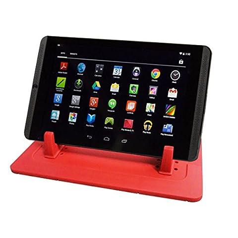 Daite Pad en silicone antidérapant Tapis de Dash support voiture cradle station d'accueil pour téléphone portable et GPS avec 2Épaisseur et systèmes de fixation 2Angle de