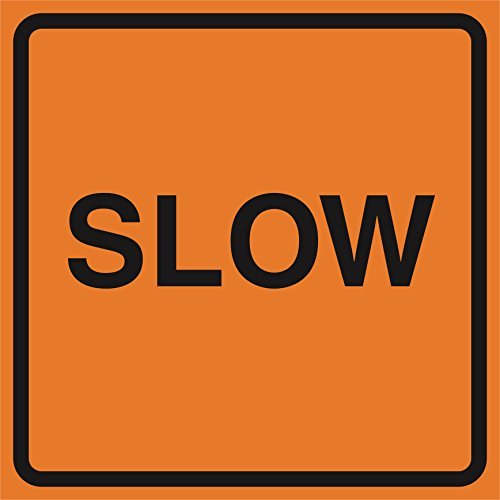 Aluminium Slow Orange Konstruktion Work Zone Bereich Job Impressum Vorsicht Road Verkehrsschilder kommerziellen Metall 1