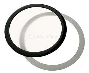 DEMCiflex Round Dust Filter 225mm schwarz/weiß