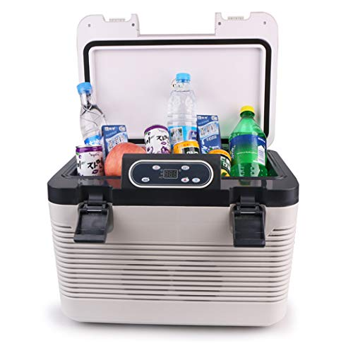 19 litres Double réfrigérateur de Voiture Mini Voiture Maison Double Usage Thermostat Froid et Chaud réfrigérateur 12v24v Camion Petit réfrigérateur