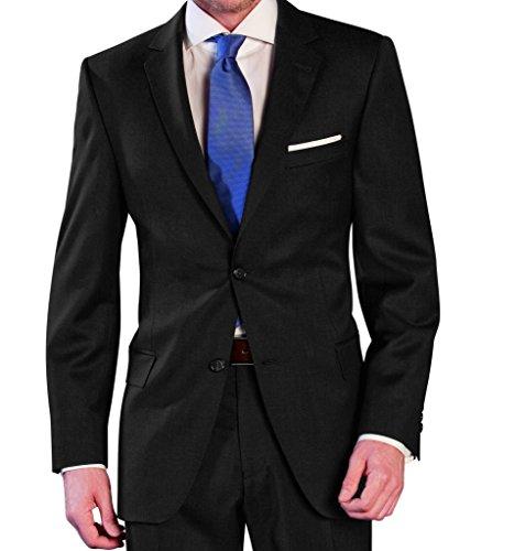 Michaelax-Fashion-Trade Lanificio Tessuti Italia - Regular Fit - Herren Anzug aus reiner Schurwolle in verschiedenen Farben (1941413) (Gr. 44-64, 24-32, 90-122), Farbe:Anthrazit(01), Größe:50