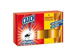 Catch - 6043 - Papier Tue-Mouches x 4