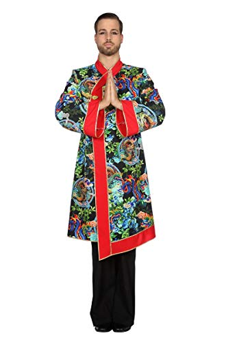 Wilbers Drachenkostüm Kostüm Drache Mantel Herren China Samurai Karneval Fasching Bunt 48 (S)