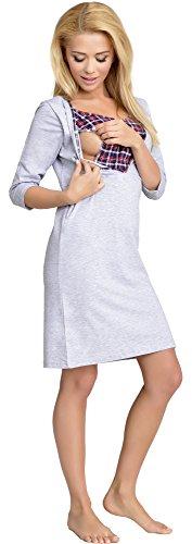 Be Mammy Allattamento Camicia da Notte per Donna Lena Mélange