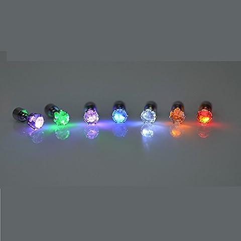 Namsan 1 Paar LED Ohrringe Glowing Light Up mit Diamant-Kronen-Art-Ohr-Bolzen-Tropfen-hängende