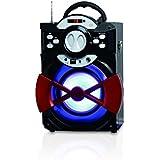 Conceptronic CSPKBTBASSPARTY Rectángulo Negro, Rojo altavoz portátil - Altavoces portátiles (20 W, 100 - 20000 Hz, 80 dB, Inalámbrico y alámbrico, Bluetooth/3.5mm/USB, Bluetooth)