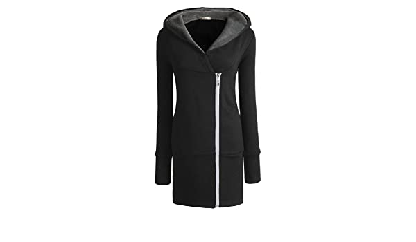 Miusol Korea Damen Herbst Winter Jacke Hooded Mantel Kapuzen
