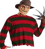 Kostüm Freddy Krüger Herren Erwachsen M/L - Maske Handschuh Pullover