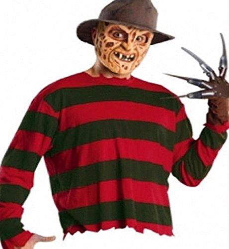 er Herren Erwachsen M/L - Maske Handschuh Pullover (Freddys Kostüm)