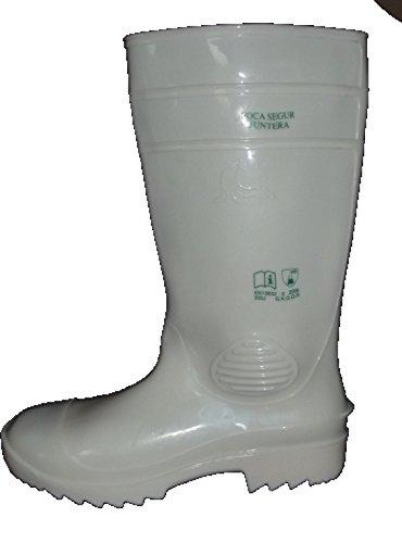 Mavinsa weiße Gummistiefel mit Stahlkappe EN 345 S4 Metzgerstiefel Größe 36 bis 48 (39) -