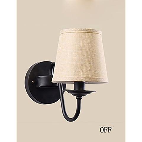 European American Country minimalista camera da letto comodino lampada da parete della navata laterale - Parete Laterale