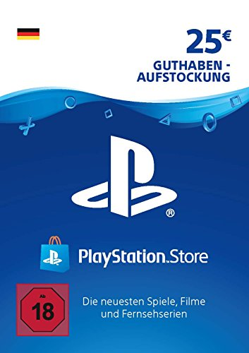 PSN Card-Aufstockung | 25 EUR | PS4, PS3, PS Vita Playstation Network Download Code - deutsches Konto (Ps Vita-ps3)