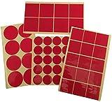 Surfaces de ruban adhésif double face - Coussins adhésifs acryliques de haute résistance - Pièces Couche adhésive de 1 mm - Amovible sans résidus - 30 50 mm taille au choix (24 Piéces 50x50mm)