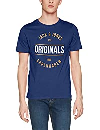 Jack & Jones Men's Jormusai Tee SS Crew Neck T-Shirt
