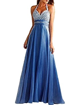 Summer Of Vacaciones Party Cocktail Prom Womens Fashions High Waist Hot Drilling Long Dresses Sexy Halter Neck...