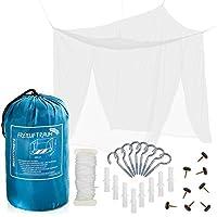 FREILUFTRAUM - Mosquitera Extra Grande para Cama Matrimonio 200x220x200cm. Protección Total contra Mosquitos.