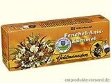 Fenchel Anis Kümmel Tee Goldmännchen | INKL DDR Geschenkkarte | DDR Produkte| Ideal für jedes DDR Geschenkset | DDR Traditionsprodukt und Ossi Kultprodukt | DDR Artikel