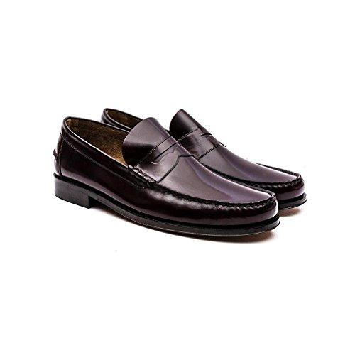 Loake Princeton Leder Mokassin Schuhe Burgundy
