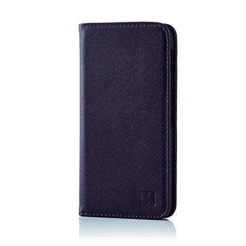 32nd Klassische Series - Lederhülle Case Cover für BlackBerry DTEK60, Echtleder Hülle Entwurf gemacht Mit Kartensteckplatz, Magnetisch und Standfuß - Aubergine