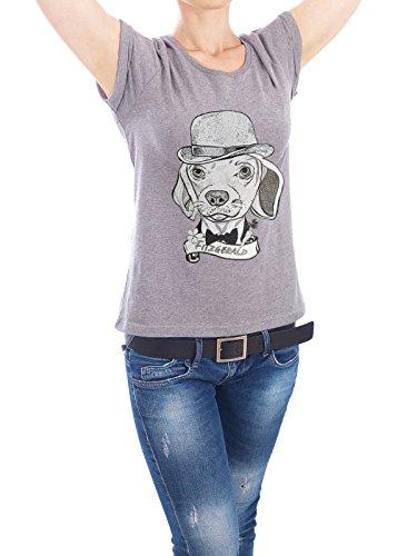 """Design T-Shirt Frauen Earth Positive """"fitz"""" - stylisches Shirt Tiere von Giulio Iurissevich Grau"""