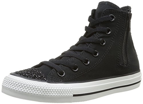 Converse Chuck Taylor All Star Femme Toecap Sparkle Side Zip Hi 382590, Damen Sneaker, Schwarz (8 Noir), EU 36 -