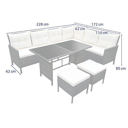 Svita Poly Rattan Set Gartenmöbel Rattan Lounge Gartenset Sofa
