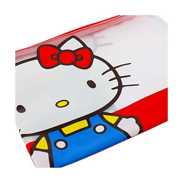 Hello Kitty Essential – Estuche para lápices, PVC transparente, diseño doble