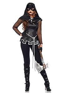 Leg Avenue- Mujer, Color negro, plata, Large (EUR 42-44) (85570)
