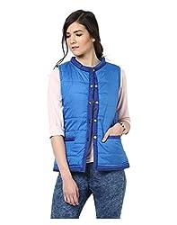 Yepme Jamie Sleeveless Jacket - Blue -- YPMJACKT5184_XL
