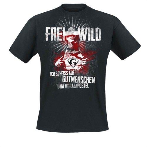 Frei.Wild Shirts Frei.Wild - Gutmenschen & Moralapostel T-Shirt, schwarz, Grösse 4XL