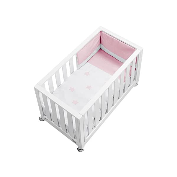 cotinfant Look at Me-Co-Sleeping Cot 60x 120cm, White/Pink Cotinfant Its functionality as Co-Sleeping cradle allows you to stay in touch with the baby, without barriers and the same height, which encourages the baby and the rest of the mom Once its function as Youth Bed, turns into a practical sofa and in headboard 3products in 1 1