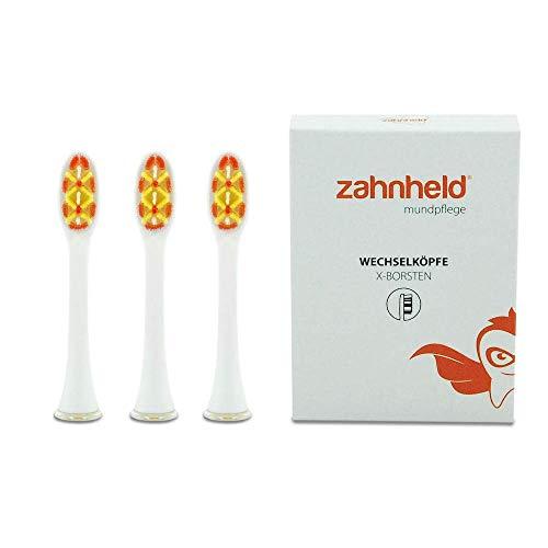 ZAHNHELD® COMMEO (X-Borsten), 3 Stück Whitening Wechselköpfe (Bürstenköpfe) Für Elektrische Zahnbürste (Schallzahnbürste) GERO | Ersatzbürsten - Aufsteckköpfe, Weiß - Wechselkopf-zahnbürste