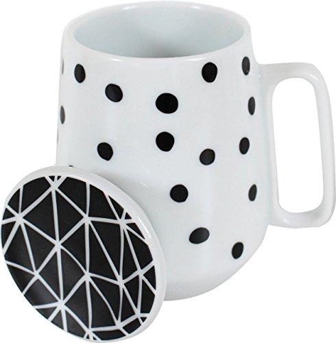 schwarz-weiss-gepunktete-porzellan-tasse-set-mit-deckel-teebeutelablage-eierbecher-modern