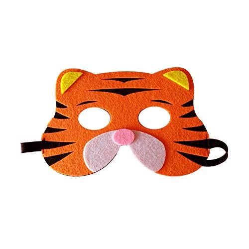 Starall Kinder Halloween Masken Niedlichen Tier Lion Tiger Fox Maskerade Party Kostüm Cosplay Prop (Kleiner Tiger) (Kostüm Baby Für Halloween Tiger)