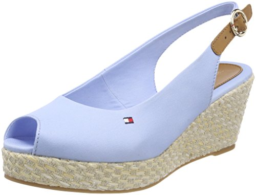 Tommy Hilfiger Damen Iconic Elba Basic Sling Back Espadrilles, Blau (Chambray Blue 407), 41 EU (18 Findet Tops)