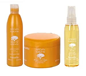 FARMAVITA ARGAN SUBLIME PACK Shampooing Masque Elixir