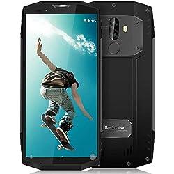 "Movil Antigolpes, Blackview BV9000 Pro Smartphone Resistente, Octa Core 6GB RAM 128GB ROM, 4180mAh Batería 12V2A Carga Rápida, 5.7"" FHD 18:9 Pantalla, 13MP + 5MP Dual Cámara Trasera, GPS,NFC - Gris"