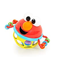 ‏‪Bright Starts Sesame Street Jingle & Shake Elmo Easy Grasp Rattle, Ages 3-12 Months‬‏