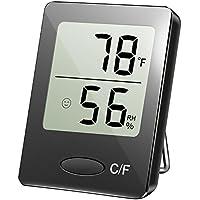 TOPELEK Mini Higrómetro Digital, Temperatura de Humedad con Alta Precisión, Indicación de Nivel de Confort, Portátil, Mesa de Pie, Tapiz de Pared, Fijación de Imán