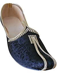 kalra Creaciones Hombres Cuero Hecho a Mano Tradicional de La India Funda Zapatos, Color, Talla 42 EU