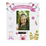 Libro de comunión para firmas y Fotos, Personalizado con Placa grabada con Nombre y Fecha (Rosa)