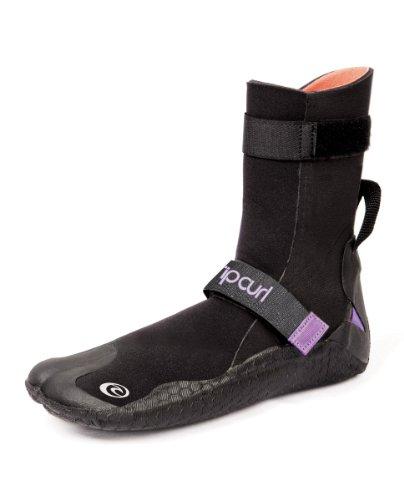 Rip Curl Damen Flash Bomb 5mm Split Toe Boot, schwarz (Toe Boot Bootie Split)