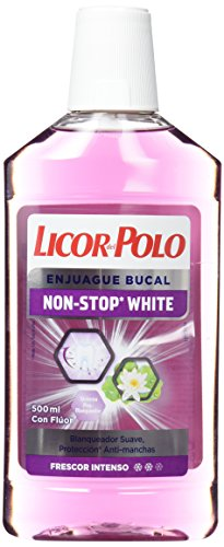 Licor del Polo Enjuague bucal Non-Stop White 500...