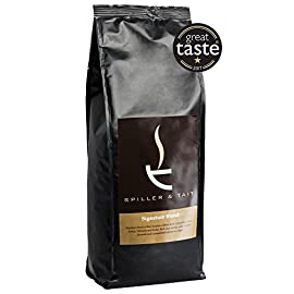 Spiller & Tait Signature Blend Coffee Beans – 1kg Bag – Multi Award Winning Roasted in Small Batches in the UK – Espresso Blend Suitable for All Coffee Machines