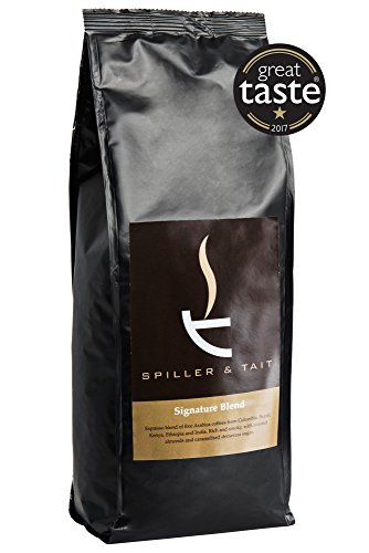 Spiller & Tait Signature Blend Coffee Beans - 1kg Bag - Multi Award Winning Roasted in Small Batches in the UK - Espresso Blend Suitable for All Coffee Machines  Spiller & Tait Signature Blend Coffee Beans – 1kg Bag – Multi Award Winning Roasted in Small Batches in the UK – Espresso Blend Suitable for All Coffee Machines 418SMcZUr1L